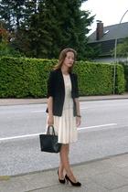 H&M blazer - Espace&Kiliwatch dress - second hand shoes - Vogt by Florence purse
