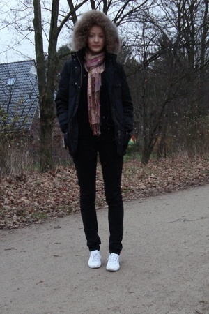 Bloom jacket - H&amp;M scarf - Superga shoes