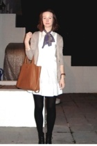 H&M dress - purse - Zara jacket