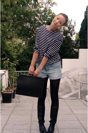 purse - Zara shorts - my dads shirt - my mums boots