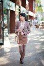 Brown-loafers-shoes-brick-red-zara-blazer-nude-zara-shirt