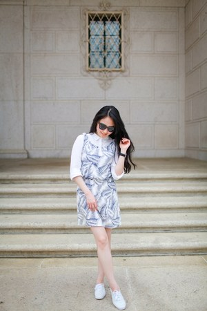 white the cambridge satchel company bag - periwinkle Gap dress