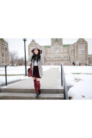 white asos blouse - black Dr Martens shoes
