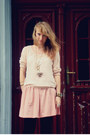 Pink-house-dress-light-pink-house-blouse-gold-house-accessories