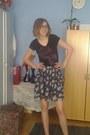 Esprit-t-shirt-h-m-skirt