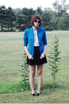 blue vintage blazer - black BC shoes shoes - black Target skirt