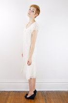 white lace vintage dress
