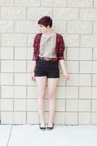 vintage cardigan - shorts