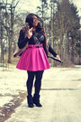 Magenta-asos-skirt-silver-vedette-shapewear-intimate-black-aldo-wedges