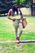 camel Vedette Shapewear bodysuit - bronze Forever 21 pants
