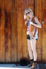 Vintage-shirt-leopard-amiclubwear-boots-denim-american-apparel-shorts