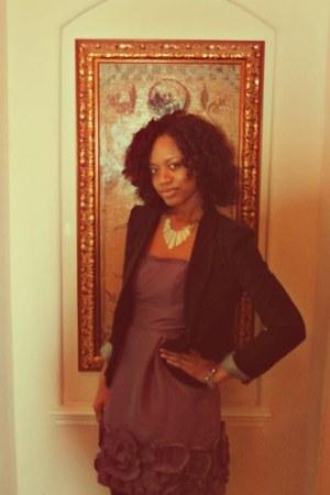 purple BCBG dress - black Charlotte Russe blazer