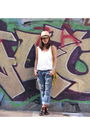 White-zara-shirt-blue-paula-cahen-danvers-old-jeans-brown-lara-bernasconi-sh