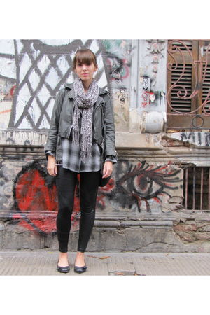 black maria vazquez leggings - gray gap old blouse - gray Doma jacket