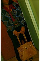 attitude vintage vest - H&M pants - Primark scarf - Louis Vuitton belt