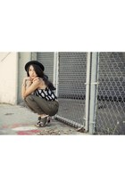 Topshop hat - Forever 21 pants - LAMB sandals - bycorpus top