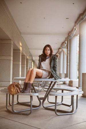 Ralph Lauren boots - white Thread & Supply jacket - stella & jamie bag - H&M top