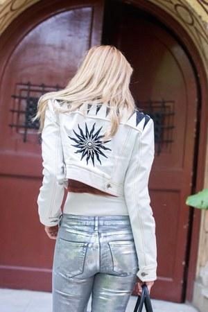 Mango jeans - Fausto Puglisi jacket - hermes birkin bag