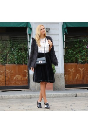 black gianfranco ferre skirt