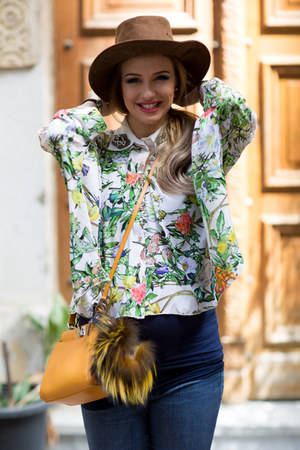 CiCi London blouse - Joes jeans - Fendi bag