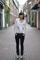 glitter Topshop shoes - boyfriend Nudie jeans - Zara jacket