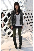 Isabel Marant boots - boucle Isabel Marant jacket - Vero Moda leggings
