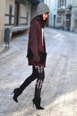Ebay jeans - Frenchonista bag - Zara heels - made by my mum cardigan