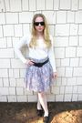 Unknown-brand-sunglasses-thrifted-target-sweater-h-m-skirt-forever-21-legg