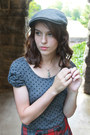 Plaid-forever-21-skirt-hat-polka-dot-forever-21-shirt