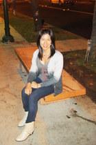Forever 21 cardigan - Charlotte Russe boots - papaya jeans - Disney shirt