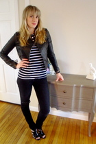 black Forever 21 jacket - black H&M shirt - black Nicholas Kne West shoes