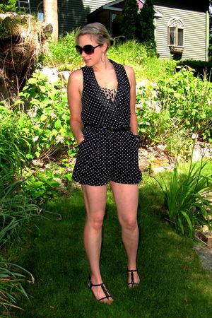 black modcloth dress - black modcloth belt - black Ann Klien shoes - brown Marsh
