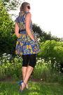 Blue-betsy-johnson-dress-black-marshalls-leggings-purple-rebecca-taylor-belt
