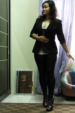 Dorothy Perkins blazer - Forever21 leggings - Zara top