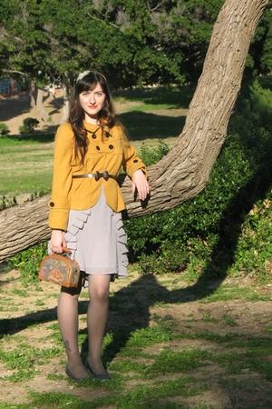 gold Ebay jacket - brown thrift purse