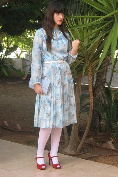 dress - belt - stockings - shoes - purse