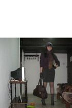 Nine West purse - Zara shoes - Zara hat