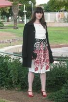top - belt - skirt - purse - shoes