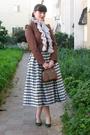 Brown-ebay-jacket-white-thrift-skirt-brown-thrift-purse