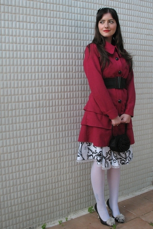 pink layer coat Ebay coat - black thrift Topshop shoes