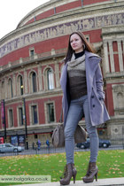 heather gray Sublevel coat - dark brown barratts boots