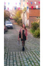 Black-asos-boots-black-vero-moda-dress-camel-dorothy-perkins-scarf