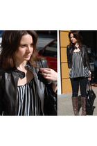 Dotti jacket - Steve Madden boots - Maurie and Even top - Sachi accessories - Mi