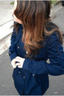 Blue-zara-dress-blue-zara-jacket-brown-steve-madden-boots