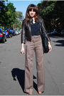 Brown-h-m-pants-black-cue-blouse-brown-dotti-jacket