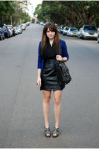 gray Forever 21 shoes - black Seduce dress - black scarf