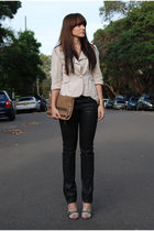 beige Cue blazer - black Sass and Bide jeans - beige Witchery top - brown Sachi