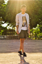 shoes - blazer - shorts - t-shirt