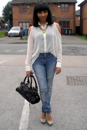 Republic shirt - select jeans - Chloe bag - Miss Selfridges necklace