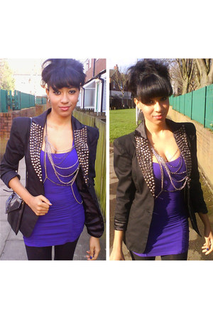Debenhams dress - new look jacket - body jewellery River Island accessories